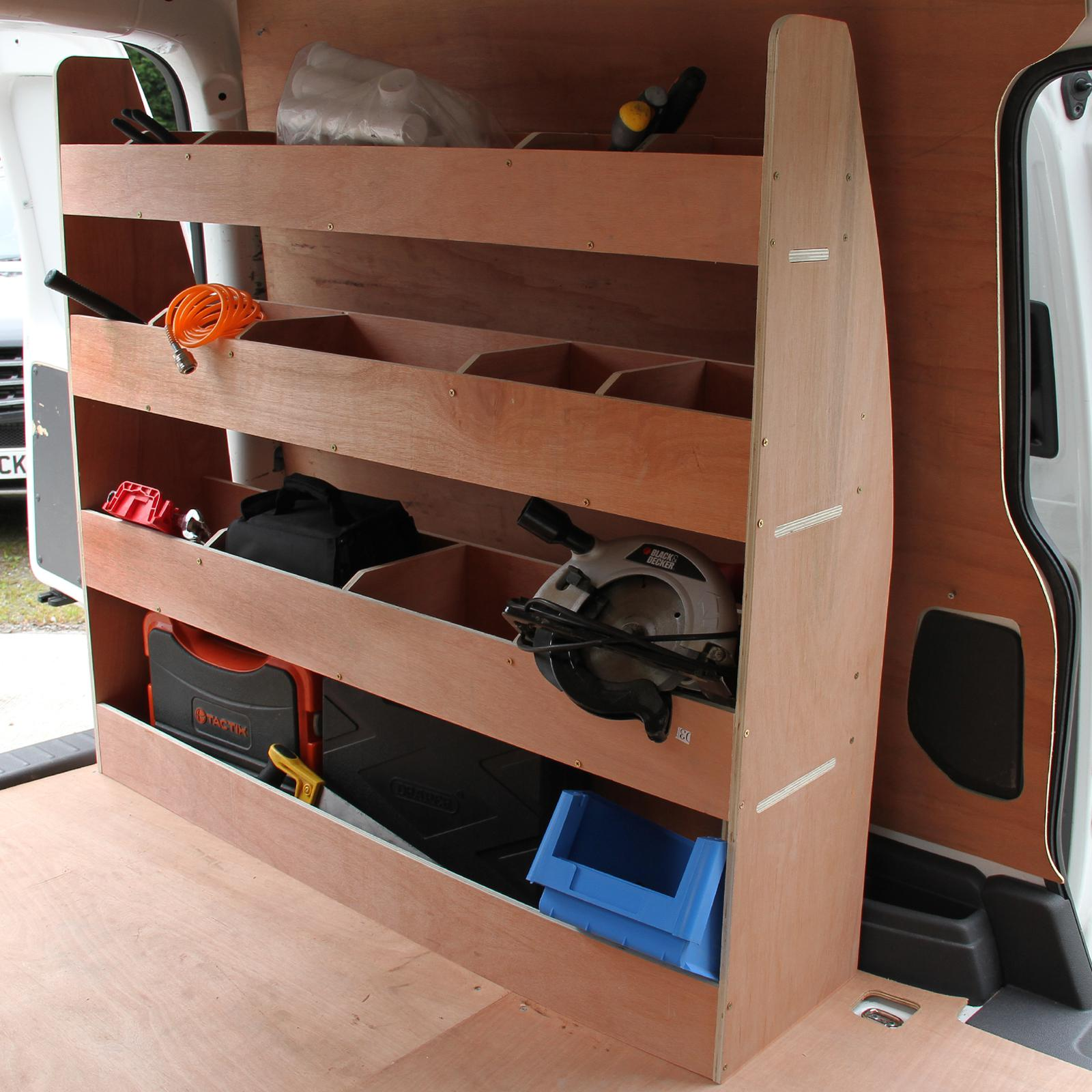 monster racking vw caddy fahrzeugeinrichtung fahrzeugausbau lieferwagen autoregal werkstattwagen. Black Bedroom Furniture Sets. Home Design Ideas