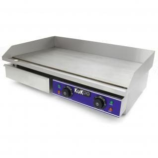 KuKoo Monster Chef Elektrische Gastro Grillplatte Elektrogrill Grill Bratpfanne Gusseisen Bratfläche 70cm