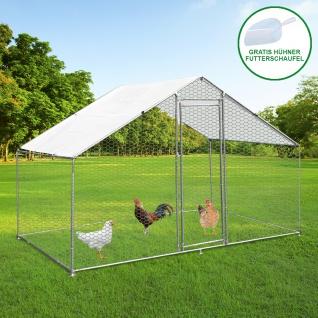 Hühnerstall Hühnerfreilauf Freilaufgehege Auslauf Hühnerkäfig UV Sonnendach Kleintierstall Hühnerhaus Freilauf Outdoor