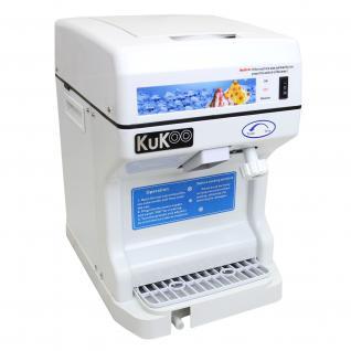KuKoo Gastro Ice Shaver Eismaschine Slusheis Wassereis Eisschnee Schneeeis Shaved Iced Eisbearbeitung Küchenmaschine