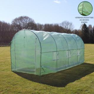 Polytunnel mit Folie Gewächshaus Treibhaus Tomatenhaus Pflanzenhaus Folientunnel 19mm 5m x 2m