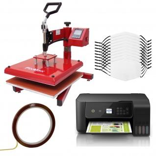 10 mittelgroße Gesichtsmasken für den Sublimationsdruck Medium, Schwingpresse & Eco Tank Drucker