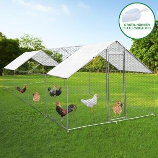 Hühnerstall 3m x 8m x 2m Hühnerfreilauf Freilaufgehege Auslauf Hühnerkäfig UV Sonnendach Kleintierstall Hühnerhaus Freilauf Outdoor