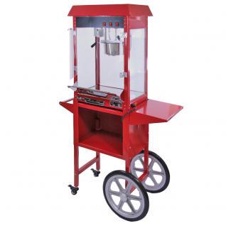 KuKoo Retro Popcornmaschine Popcorn Maker Popcornautomat Popcorn Partyservice mit Wagen