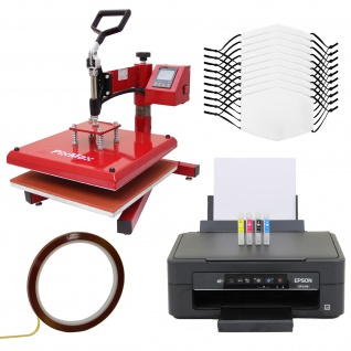 10 Gesichtsmasken für den Sublimationsdruck, Schwingpresse & Epson Drucker