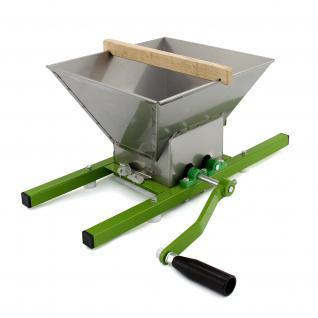 KuKoo Obstmühle Beerenmühle Fruchtmühle Häcksler mit 7 Liter Trichter aus Edelstahl und Handkurbel