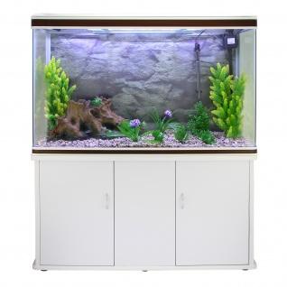 300L Aquarium Komplettset mit weißem Unterschrank & Naturkies 70cm H x 120cm B x 39cm T