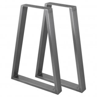 2 x Tischgestell Tischkufen Industriedesign Rohstahl Tischbein Tischuntergestell