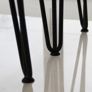 SKISKI Legs 4 x 2 Streben Haarnadelbeine Haar-Nadel-Beine Haarnadel-Beine Tischbeine Stuhlbeine Möbelbeine Haarnadel-Tischbeine 40.5cm H 10mm D Stahl - Schwarz - Vorschau 3