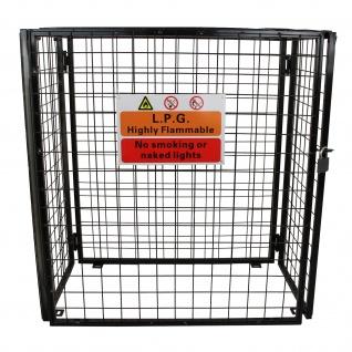Gasflaschenlagerung Gasflaschen Depot Gasflaschen Aufbewahrung Käfig Gitterbox zur Lagerung von Gasflaschen 900mm (H) x 1180mm (L) x 600mm (B)