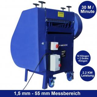 Automatische Kabelschälmaschine Abisoliermaschine Kabelabisoliermaschine Kabel Schneidzange Drahtschneidemaschine Kabelisolierer elektrisch | 2.2KW | 55 mm