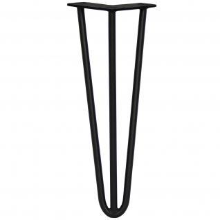 SKISKI Legs 4 x 3 Streben Hairpin Haarnadelbeine Haar-Nadel-Beine Haarnadel-Beine Tischbeine Stuhlbeine Möbelbeine Haarnadel-Tischbeine 35.5cm H 10mm D pulverbeschichteter Stahl - Schwarz - Vorschau 2