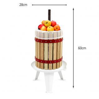 KuKoo 6 Liter - Obstpresse Beerenpresse Weinpresse Fruchtpresse Saftpresse Obstmühle mit 3 Gratis Filtersäcken - Vorschau 2