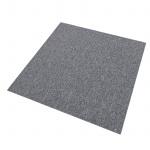 20 Stück Teppichfliesen Bodenfliesen Teppich 50 x 50 cm für 5 m² in Platingrau