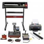 PixMax Multifunktion 5-in-1 Schwingpresse mit Vinyl -Schneideplotter Folienplotter und Inkjetdrucker Gratis 3 x Roland Klingen, Weeding Pack
