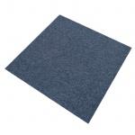 MonsterShop 20 Stück Teppichfliesen Bodenfliesen Teppich 50 x 50 cm für 5 m² in Sturmblau