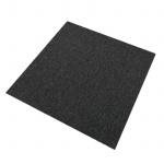 20 Stück Teppichfliesen Bodenfliesen Teppich 50 x 50 cm für 5 m² in Kohle-Schwarz
