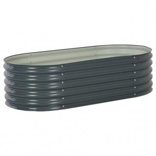 vidaXL Garten-Hochbeet 160x80x44 cm Verzinkter Stahl Grau