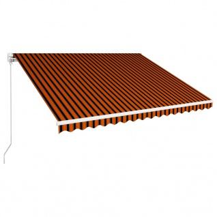 vidaXL Einziehbare Markise Handbetrieben 400 x 300 cm Orange und Braun