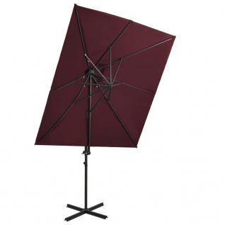 vidaXL Ampelschirm mit Lüftung Bordeauxrot 250x250 cm