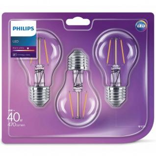 Philips LED Lampen 3 Stk. Classic 4 W 470 Lumen 929001237173