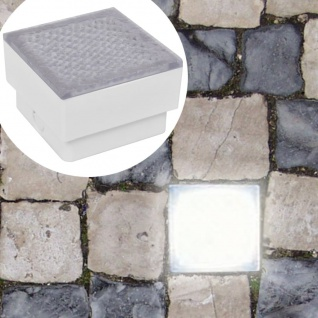 2 x LED Boden-Einbauleuchte 100 x 100 x 68 mm