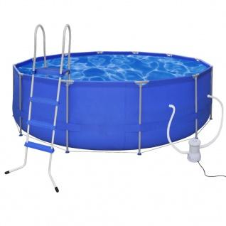 Schwimmbad Pool Rund 457 x 122 cm + Pumpe + Leiter