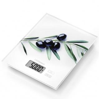 Medisana digitale Küchenwaagen KS 210 Glas Olive 5 kg 40473