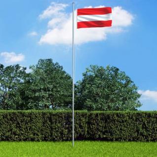 vidaXL Flagge Österreichs und Mast Aluminium 6, 2 m