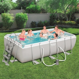 Bestway Power Steel Swimmingpool-Set Rechteckig 404×201×100 cm 56441