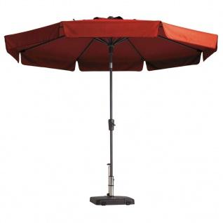 Madison Sonnenschirm Flores mit Volant 300 cm Ziegelrot