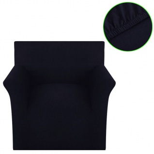 Sofahusse Stretchhusse Sofabezug Schwarz Baumwoll-Jersey