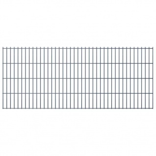 vidaXL 2D Gartenzaun-Elemente 2, 008x0, 83 m Gesamtlänge 48 m Grau