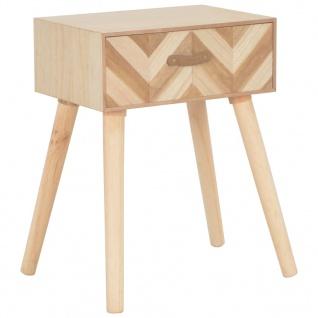vidaXL Nachttisch mit Schublade 44×30×58 cm Massivholz