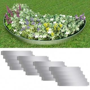 Flexible Rasenkante 20-er Set 100x15 cm Verzinkter Stahl