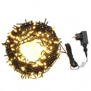 vidaXL Lichterkette 2000 LEDs Indoor & Outdoor 200 m IP44 Warmweiß