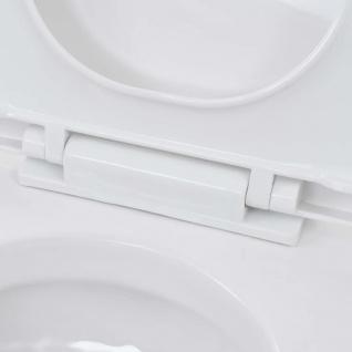 vidaXL Wand-WC Keramik Weiß - Vorschau 3