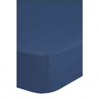 Emotion Bügelfreies Spannbettlaken 160 x 200 cm Blau 0220.24.45