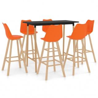 vidaXL 7-tlg. Bar-Set Orange