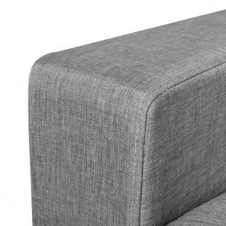 vidaXL 3-Sitzer-Sofa Hellgrau Stoff - Vorschau 5
