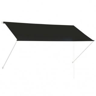 vidaXL Einziehbare Markise Anthrazit 250 x 150 cm