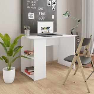 vidaXL Schreibtisch Weiß 110×60×73 cm Spanplatte