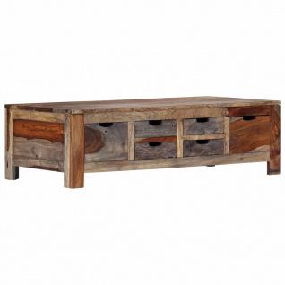 vidaXL Couchtisch Grau 100 x 55 x 30 cm Massivholz