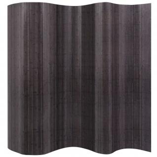 vidaXL Raumteiler Bambus Grau 250 x 195 cm