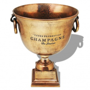 vidaXL Champagner-Kühler Pokal Kupfer Braun