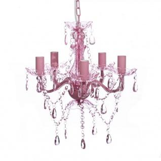 Acryl Kronleuchter rosa pink