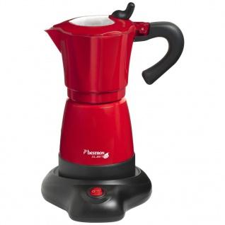 Bestron Espressomaschine 6 Tassen 480 W Rot AES480