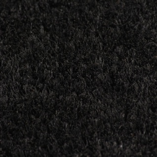 vidaXL Fußmatten 2 Stk. Kokosfaser 24 mm 50 x 80 cm Schwarz - Vorschau 2