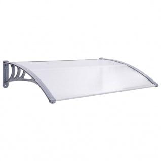 vidaXL Türvordach Grau und Transparent 120×80 cm PC