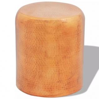 vidaXL Hocker/Beistelltisch aus gehämmertem Aluminium Kupferfarben